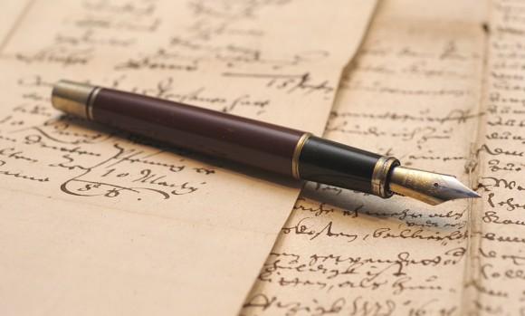 Stilou vechi si hartie veche