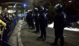 Jandarmi la protestele din Piata Victoriei