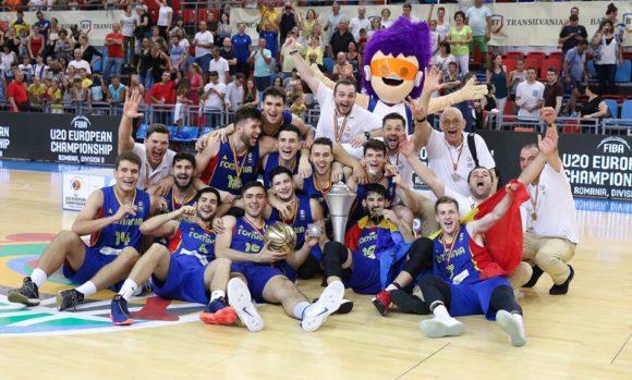 Romania a castigat europeanul de baschet U20